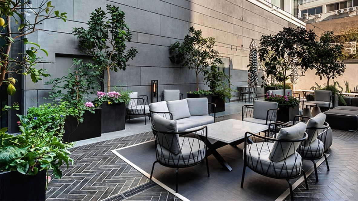 Located Next To The Lobby, The Outdoor Terrace Is A Great Place To Take A  Breath Of Fresh Air While Savoring Food And Drinks From The Lobby Bar,  Working, ...
